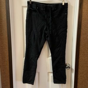 St. John's bay Black Skinny Leg Drawstring Pants